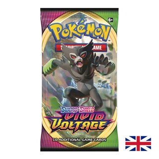Pokemon Karten SWSH04 Sword & Shield 1 Booster Pack Vivid...