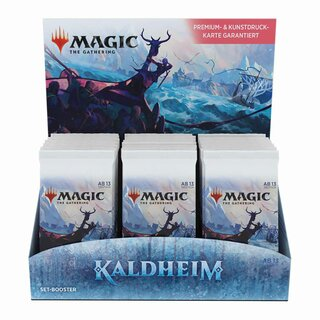 Magic The Gathering Karten Kaldheim Set Booster Display DE