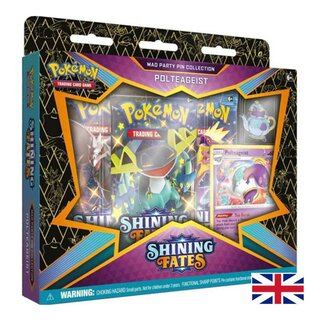 Pokemon Karten Shining Fates Pin Collection Polteageist EN