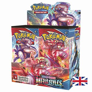 Pokemon Karten Sword & Shield 36 Booster Packs Battle...